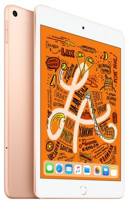 Планшет Apple iPad mini 2019 7.9 64Gb Gold 3G LTE Bluetooth Wi-Fi iOS MUX72RU/A планшет apple ipad air wi fi cellular 64gb 10 5 серебрянный 2019 mv0e2ru a a12 2 49 64gb 10 5 retina wi fi bt 3g lte 7 8mpx ios 12