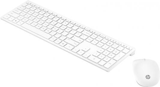 Клавиатура + мышь HP Pavilion 800 клав:белый мышь:белый USB беспроводная slim