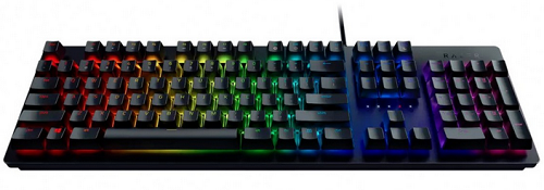 Клавиатура проводная Razer HUNTSMAN-Opto-Mechanical Gaming Keyboard USB черный (RZ03-02521100-R3R1) клавиатура razer blackwidow tournament 2014 черный rz03 00811900 r3r1