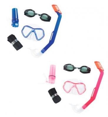 цена на набор для ныряния Барракуда (маска, очки, трубка) от 3лет 2 цв. в асс-те