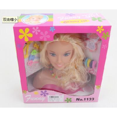Кукла-манекен для создания причесок, с аксесс. 1133 в кор. в кор.24шт цена