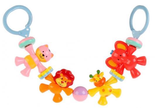 Погремушка-подвеска Shantou Весёлые зверята на коляску аэлита погремушка подвеска на коляску подвеска с колокольчиками