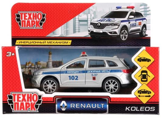 Инерционная машинка ТЕХНОПАРК RENAULT KOLEOS «Полиция» красный машинка инерционная play smart подъемный кран р49201