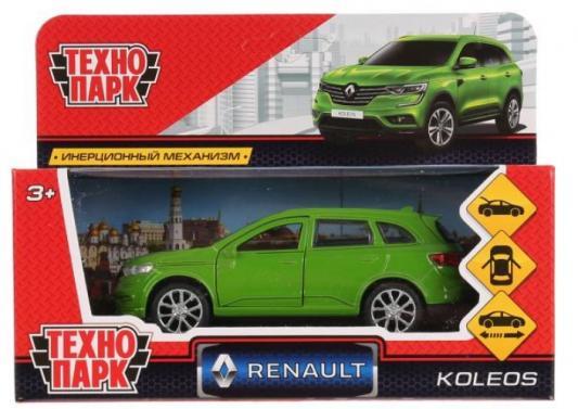 Инерционная машинка ТЕХНОПАРК RENAULT KOLEOS зеленый технопарк машинка инерционная уаз hunter вооруженные силы