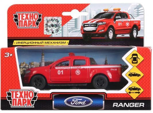 Пожарная машина ТЕХНОПАРК FORD Ranger «Пожарная служба» 1:44 красный игрушка технопарк пожарная машина 251a1 r