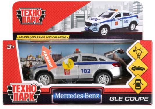 Полицейская машина ТЕХНОПАРК «MERCEDES-BENZ GLE COUPE» серебристый 12 см