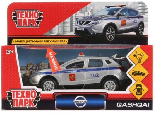 Полицейская машина ТЕХНОПАРК Nissan Qashqai Полиция серебристый 12 см