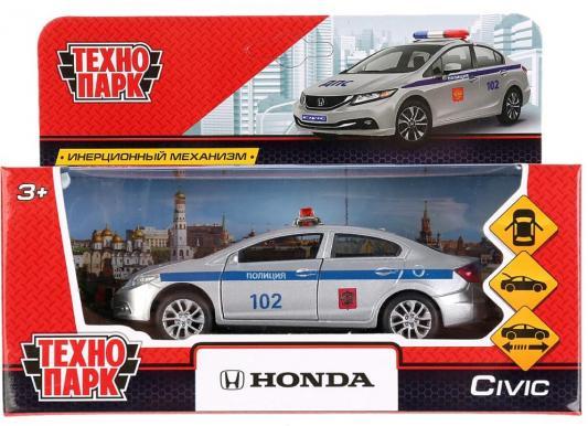 Машина ТЕХНОПАРК HONDA CIVIC ПОЛИЦИЯ серебристый 12 см