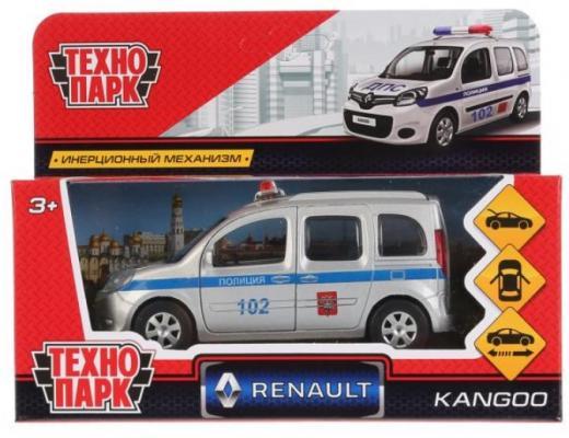 Полицейская машина ТЕХНОПАРК Renault Kangoo Полиция серебристый 12 см