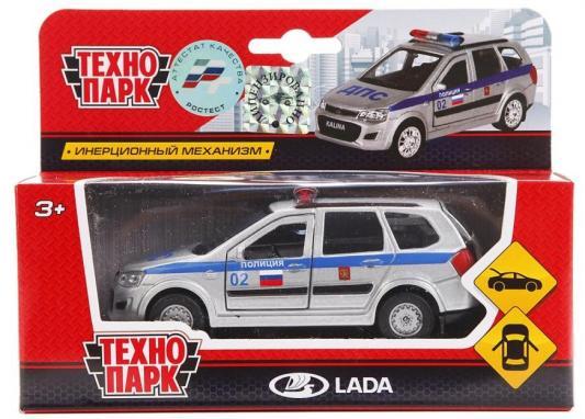 Полиция ТЕХНОПАРК LADA KALINA CROSS серебристый 12 см технопарк автомобиль lada lada kalina полиция цвет белый
