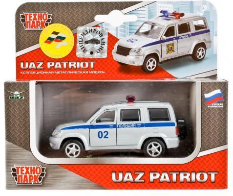 Полиция ТЕХНОПАРК УАЗ ПАТРИОТ бело-синий 9 см цена