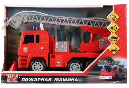 Машина ТЕХНОПАРК ПОЖАРНАЯ красный 24 см игрушка технопарк пожарная машина 251a1 r