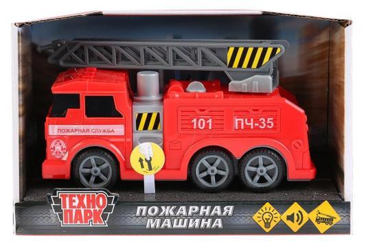 Машина ТЕХНОПАРК ПОЖАРНАЯ МАШИНА красный 17 см игрушка технопарк пожарная машина 251a1 r