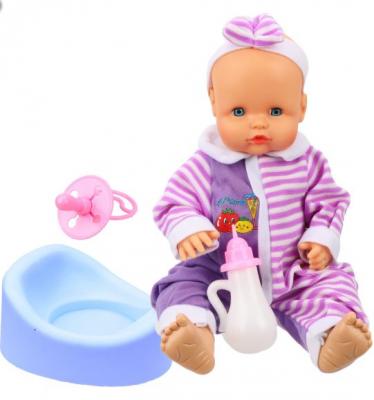Кукла Наша Игрушка Пупс 39 см говорящая пьющая писающая