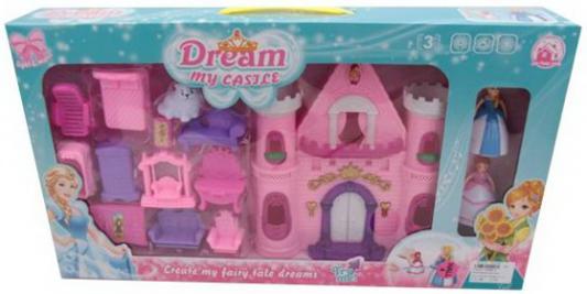 Замок Моя мечта, 2 куклы в компл., аксесс. 12, свет, звук, батар.AA*2шт. компл.не вх., ассорт.,