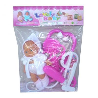 Набор доктора Наша Игрушка с куклой 7 предметов набор доктора ветеринара наша игрушка набор ветеринара 7 предметов 288