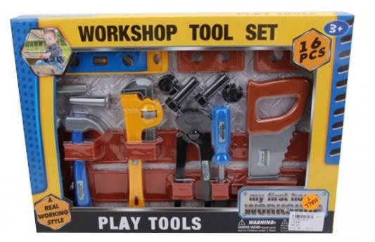 Купить Набор Наша Игрушка Инструменты 16 предметов, для мальчика, Игровые наборы Юный мастер