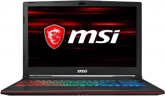 Ноутбук MSI GP63 Leopard 8RE-807RU Core i7 8750H/16Gb/1Tb/SSD128Gb/nVidia GeForce GTX 1060 6Gb/15.6/FHD (1920x1080)/Windows 10/black/WiFi/BT/Cam ноутбук msi gt83 8rg 005ru titan intel core i7 8850h 2600 mhz 18 4 1920х1080 32768mb 512gb hdd blu ray nvidia geforce gtx 1080 х 2 wifi windows 10 home