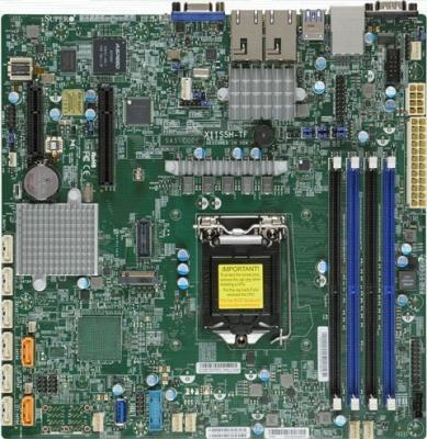 Материнская плата Supermicro MBD-X11SSH-TF-O Socket 1151 C236 4xDDR4 1xPCI-E 4x 1xPCI-E 8x 8 mATX материнская плата supermicro mbd x10sle f p socket 1150 c224 4xddr3 1xpci e 8x 4xsataiii нестандартный