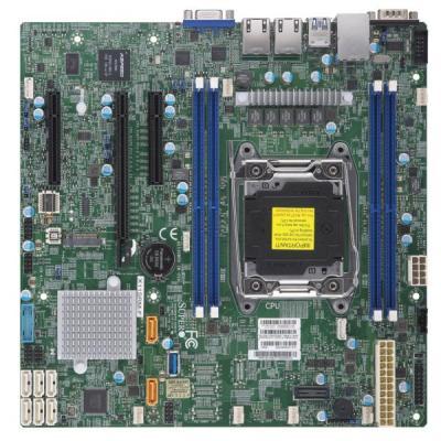 Материнская плата Supermicro MBD-X11SRM-F-O Socket 2066 Intel C422 4xDDR4 1xPCI-E 16x 2xPCI-E 8x 8 mATX материнская плата supermicro mbd x10slm f b socket 1150 c224 4xddr3 1xpci e 4x 2xpci e 8x 2xsata ii 4xsataiii matx oem