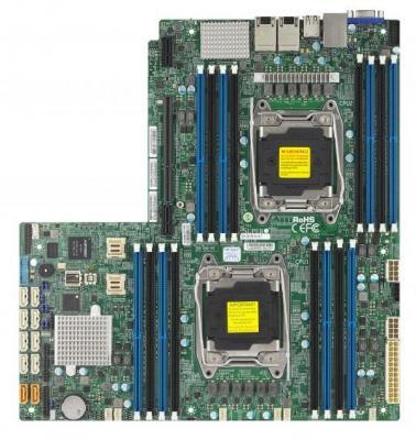 лучшая цена Материнская плата Supermicro MBD-X10DRW-NT-O 2 х Socket 2011 C612 16xDDR4 10 Нестандартный
