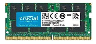Crucial 16GB DDR4 2666 MT/s (PC4-21300) CL19 DR x8 ECC Unbuffered SODIMM 260pin