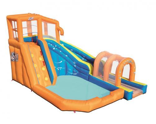 н.аквапарк 420 х 320 х 260 см (батут с горкой и бассейном + электронасос + шланг для воды + заплатка для ремонта + чехол + колышки (10 шт.)