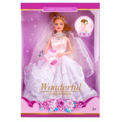Купить Кукла Наша Игрушка Невеста 29 см шарнирная 8015B, пластик, текстиль, Классические куклы и пупсы