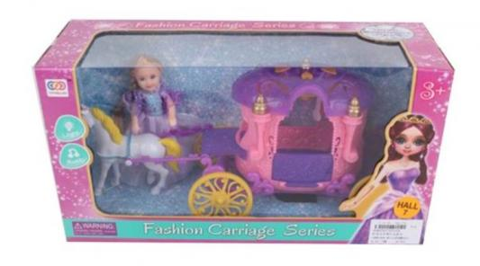 Карета с лошадью и куколкой Наша Игрушка Карета в наборе с куколкой и лошадкой игрушка конструктор забияка королевская карета 1157895