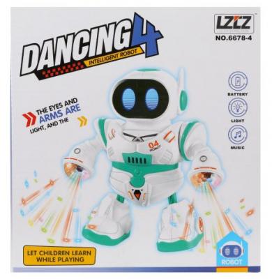 Купить Робот Наша Игрушка Танцор 20 см танцующий со звуком светящийся, Игрушки Роботы