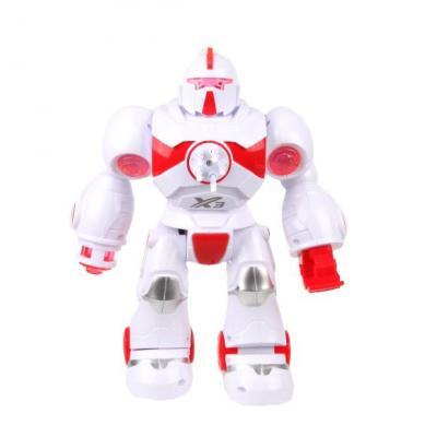 Купить Робот на батарейках Наша Игрушка 6059 28 см со звуком светящийся стреляющий, Игрушки Роботы