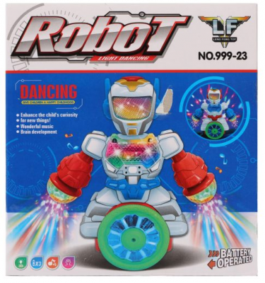 Купить Игрушка Наша Игрушка Робот 24 см со звуком светящийся двигающийся, Игрушки Роботы