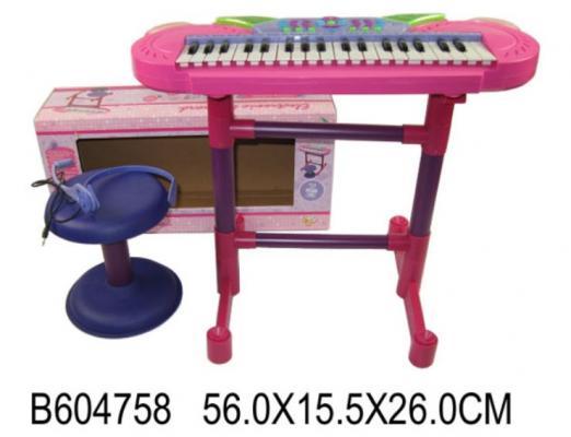 Купить Электроорган Shantou Синтезатор на подставке, розовый, Детские музыкальные инструменты