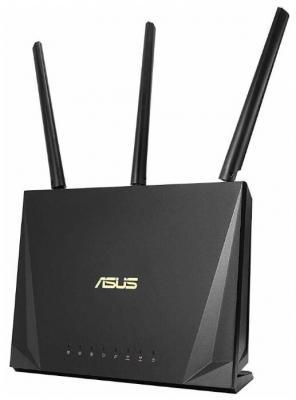купить Беспроводной маршрутизатор ASUS RT-AC85P 802.11abgnac 2333Mbps 2.4 ГГц 5 ГГц 4xLAN USB черный (90IG04X0-MN3G00) дешево
