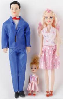 Купить Набор кукол Shantou Семья, пластмасса, Классические куклы и пупсы
