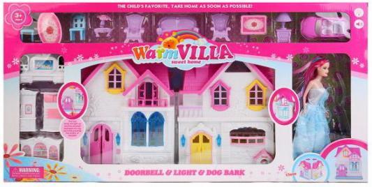 Дом для кукол, свет+звук, с куклой и мебелью WD-924E в кор. в кор.8шт дом для кукол свет звук с мебелью и аксесс в ассорт kb99 7 в кор 54 5 35 5 6 5см в кор 2 12шт