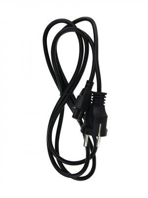 Кабель питания для ноутбуков, 3-pin, с заземлением, 220V (Европейский стандарт) <TP022-1.8-BK> 1,8m кабель питания для ноутбуков telecom 1 8m 3 pin с заземлением 220v европейский стандарт