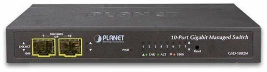 IPv4/IPv6 Managed 8-Port 10/100/1000Mbps + 2-Port 100/1000X SFP Gigabit Desktop Ethernet Switch (POE PD, External PWR)