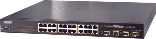 IPv6 L2+/L4 Managed 24-Port 802.3at PoE+ Gigabit Ethernet Switch + 4-Port Shared SFP (440W)