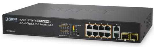 8-Port 10/100TX 802.3at High Power POE + 2-Port Gigabit TP/SFP Combo Managed Ethernet Switch (120W)
