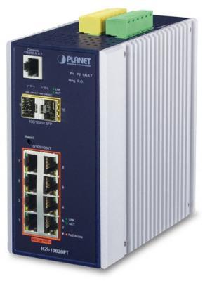 IP30 L2+ SNMP Manageable 8-Port Gigabit POE(Af) Switch + 2-Port Gigabit SFP Industrial Switch (-40 to 75 C), ERPS Ring Supported, 1588 коммутатор edge core ecs 4810 12m 12 port 10 100 1000base t combination rj 45 sfp port l2 gigabit ethernet switch