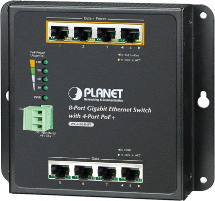 цена на IP30, IPv6/IPv4, 8-Port 1000TP Wall-mount Managed Ethernet Switch with 4-Port 802.3AT POE+ (-40 to 75 C), dual redundant power input on 48-56VDC terminal block and power jack, SNMPv3, 802.1Q VLAN, IGMP Snooping, SSL, SSH, ACL