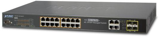 IPv6 Managed 16-Port 802.3at PoE Gigabit Ethernet Switch + 4-Port SFP (230W) коммутатор edge core ecs 4810 12m 12 port 10 100 1000base t combination rj 45 sfp port l2 gigabit ethernet switch