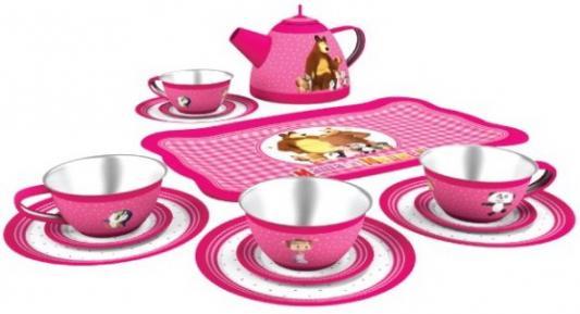 Чайный набор Играем вместе Маша и Медведь металлическая чайный набор alex в горошек металлическая 705pd