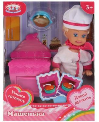 Кукла КАРАПУЗ «Машенька» в костюме повара 12 см