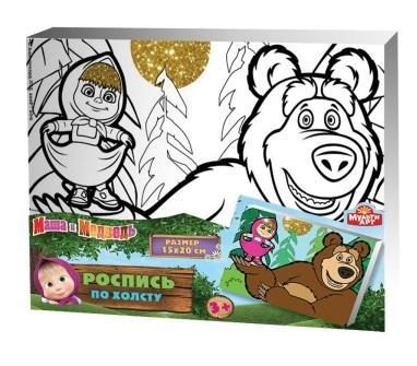 Набор для росписи по холсту MultiArt Маша и Медведь от 3 лет набор для росписи по холсту росмэн minions стюарт