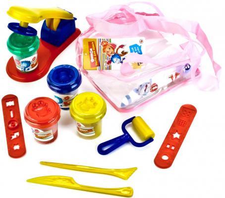 Купить Набор для лепки из теста MultiArt Фиксики 4 цвета, Тесто и масса для лепки