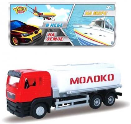 Инерционная машинка Наша Игрушка Молоко красный инерционная металлическая машинка play smart 1 52 грузовик огнеопасно красный 16x6x7 65см