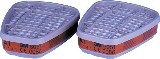 Фильтр 3M 6051 для защиты от газов и паров, А1, 2 шт