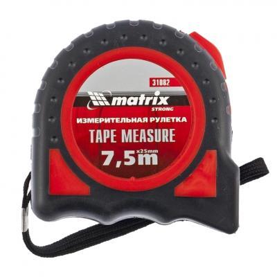 Рулетка MATRIX 31082 strong 7.5мх25мм обрезиненный корпус рулетка matrix 31002
